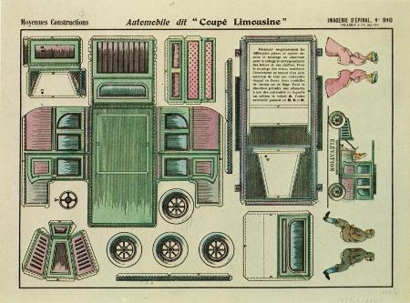 Konstruktionsbogen Limousine