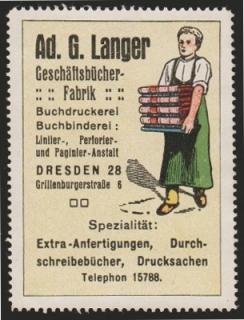 Reklamemarke Langer