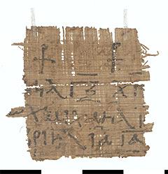 Vermutlich christliches Amulett: Sprache: griechisch