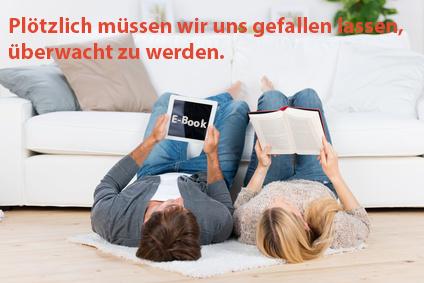 """Buch oder E-Book? Diese Fragen stellte auch Jaron Lanier bei der Verleihung des Deutschen Buchpreises in der Frankfurter Paulskirche: """"Was ist besser für ein Buch, ein Spionagegerät zu sein oder Asche?"""" Bild: (c)contrastwerkstatt-Fotolia.com/Valeat."""