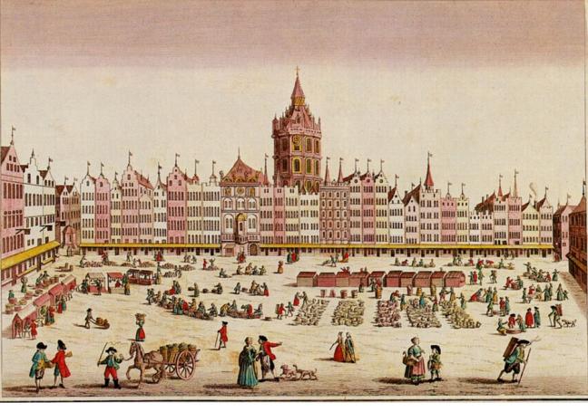 Guckkastenbild Probst: Alter Markt Köln