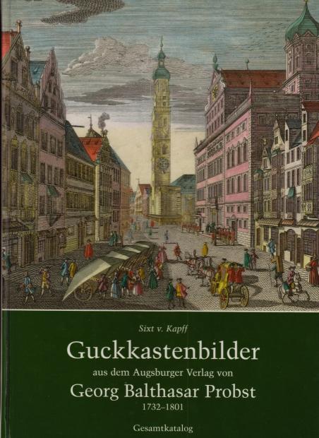 Bucheinband; Stadtansicht Augsburg Brotmarkt mit Rathaus