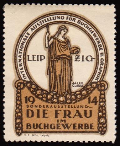 Reklamemarke Leipzig Buchgewerbe