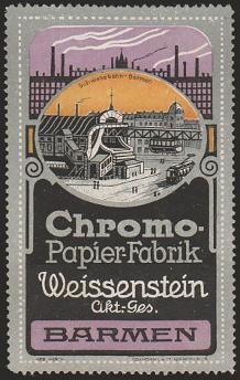 Chromopapierfabrik Weissenstein Wuppertal heute Barmen