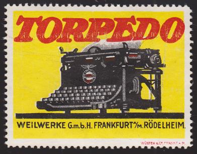 Reklamemarke Torpedowerke