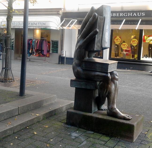Skulptur Buchhändler
