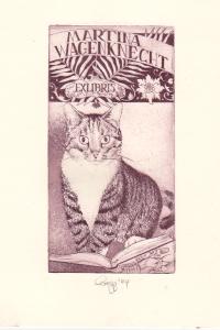 Exlibris von Olaf Gropp für Martina Wagenknecht