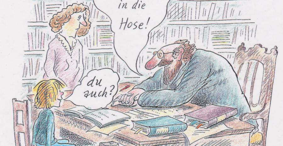 Marie Marcks: Karikaturistin, Grafikerin,  Buch-Illustratorin