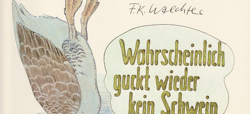 Der Zeichner F. K. Waechter oder: Wahrscheinlich guckt wieder keinSchwein