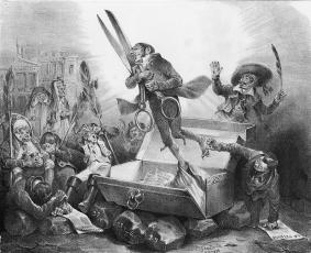 Die Auferstehung der Zensur (aus: La caricature)
