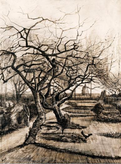 The parsonage garden at Nuenen in winter