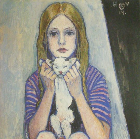 heinrich-vogeler-girl-with-a-cat